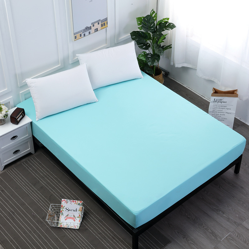 New-Coming-Solid-Fitted-Sheet-On-Elastic-Band-Mattress-Cover-with-Elastic-Rubber-Band-Printed-Bed (3)