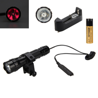 Tactical 940nm Infrared IR Night Vision Flashlight Torch 18650 Pressure Switch