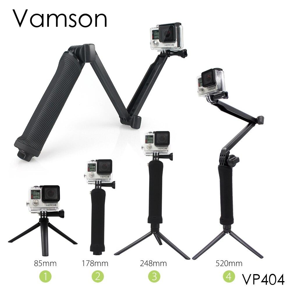 Vamson for Gopro Accessories Tripod 3 Way Monopod Mount Extension Arm Tripod for Gopro Hero 6 5 4 3+ for xiaomi yi SJ4000 VP404