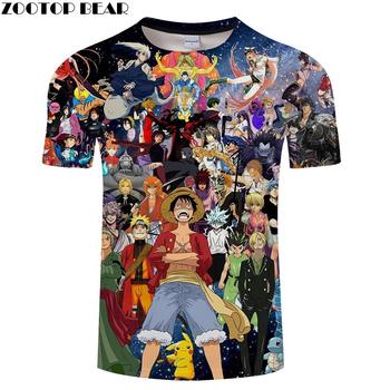 32efc1fb2 characters 3D Print T shirt Men Tshirt Summer Tees Anime T-shirt Short  Sleeve O-neck Boy Tops Naruto 2018 Drop Ship ZOOTOP BEAR