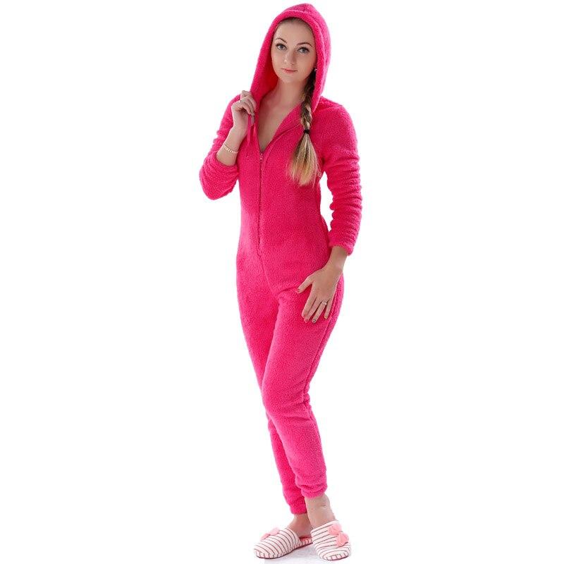 Adults Plus Size Onesie Pink Rose Red Pajama Sets Girls Autumn Winter Fleece Warm Hooded Onesie Sleepwear For Women Teenagers 3