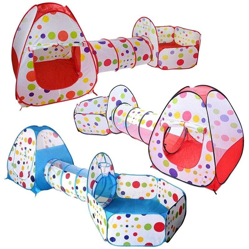 3 in 1 Spielzeug Zelt für kinder Foldabling Pop Up Tunnel Basketball Spiel Tragbare Outdoor Baby Spielen Zelte haus Hütte für Kinder Spielzeug