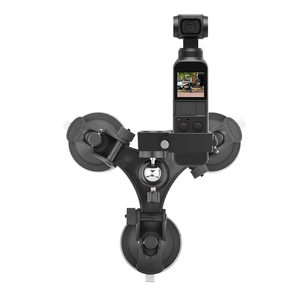 Image 2 - Suction Cup Car Mount for DJI OSMO Pocket/Pocket 2 Vehicle Window Holder with Expansion Module 1/4 Inch Interface Accessory