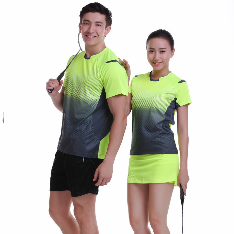 New Sportswear Quick Dry Breathable Badminton Shirt ,Women / Men Badminton Table Tennis Shirt Clothes Short Sleeve T Shirts