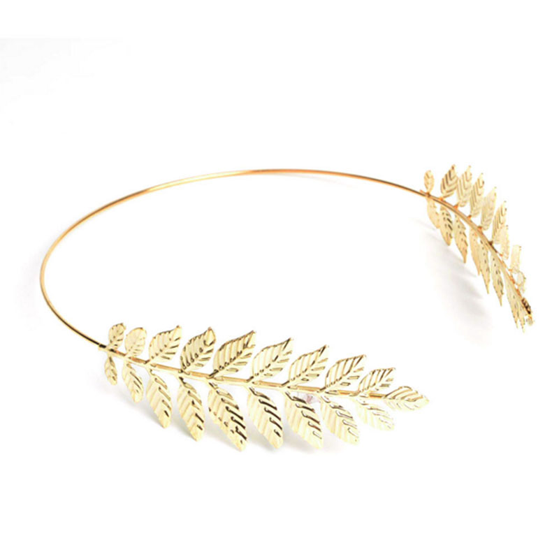 Trendy Golden Leaf Hairband Wedding Bridal Hair Accessories Head hoop Women Fashion Jewelry
