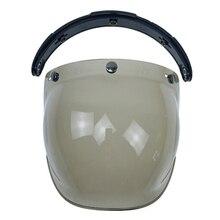 motorcycle helmet glass Flip Up base helmet bubble shield motorcycle helmet Bubble shield UV400 protection Jet helmet glass недорого