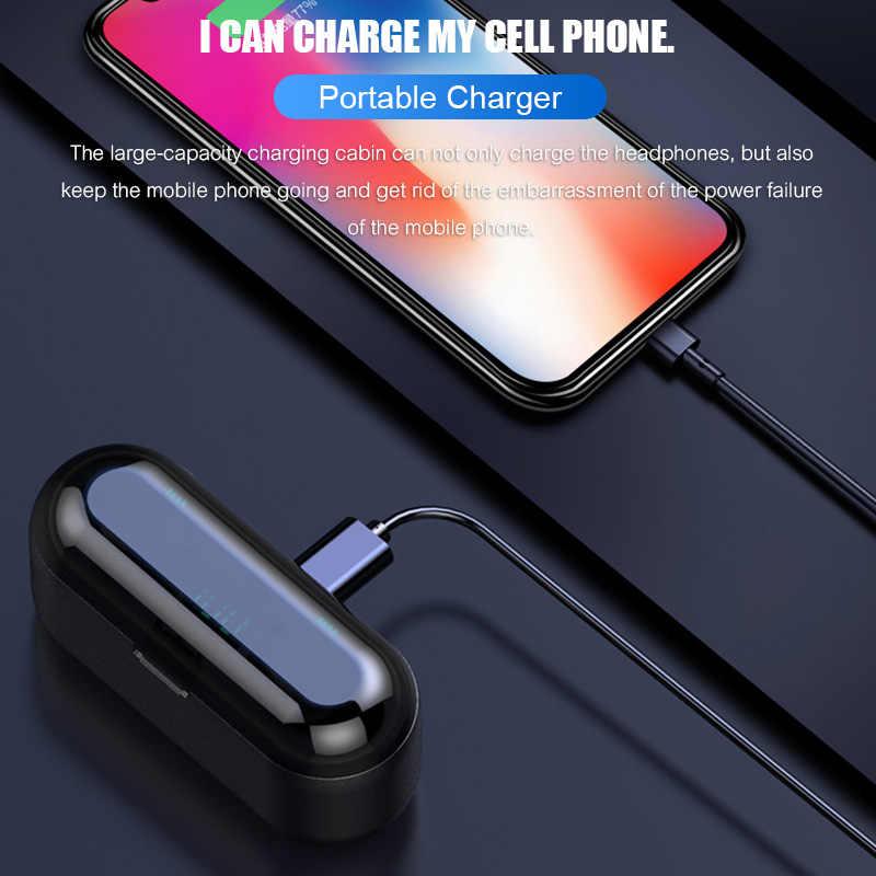 H & Bluetooth V5.0 Tai Nghe Tai Nghe Nhét Tai Không Dây Âm Thanh Stereo Thể Thao Tai Nghe Không Dây Tai Nghe Nhét Tai Tai Nghe 2000 MAh Công Suất Cho iPhone Xiaomi