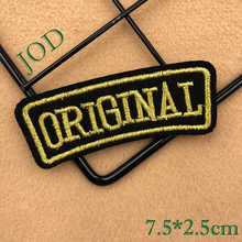 JOD 7.5*.5cm Logo ORIGINAL Letter DIY Iron on Patches for Clothes Label  Embroidery Patch Applique Badges for Clothing Sticker natural blue sodalite stone ball mineral quartz sphere hand massage crystal ball healing feng shui home decor accessory 40mm