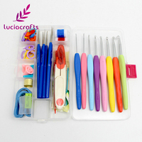 Lucia crafts 1 набор крючков для вязания крючком иголки, швы, пряжа для рукоделия Вязание Швейные Инструменты наборы игл с чехлом J0102