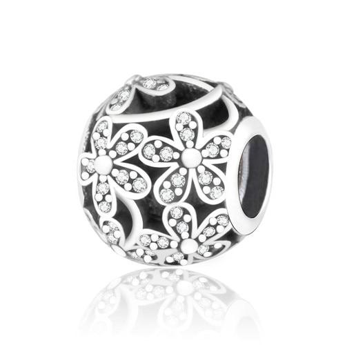 Подходит для оригинальных браслетов Pandora DIY Ювелирные изделия Осенняя коллекция ромашки ажурные шармы 925 пробы серебряные бусины в виде цветка - Цвет: A3
