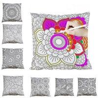 45cm Cushion Cover Diy Color Graffiti Mandala Pillow Cover Home Decoration Car Sofa Painting Secret Garden With Pen