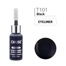 CHUSE Top Black T101 Permanent Makeup Ink Eyeliner Tattoo Ink Set Eyebrow Microblading Pigment Professional 12ML 0.4oz