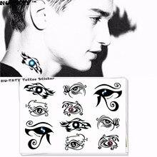 Nu-TATY Sapphire Angel Eyes Temporary Tattoo Body Art Flash Tattoo Stickers 17x10cm Waterproof Fake Tatoo Car Styling Sticker