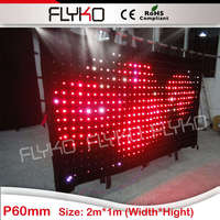 Бесплатная доставка 1*2 м p60mm Дискотека Glow с подсветкой черный занавес