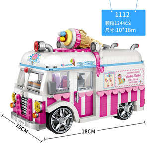 Image 2 - LOZ BRICKS MINI  Blocks City  Car Model Racing Car 2 In 1 Figurine Toys For child with collection and education value