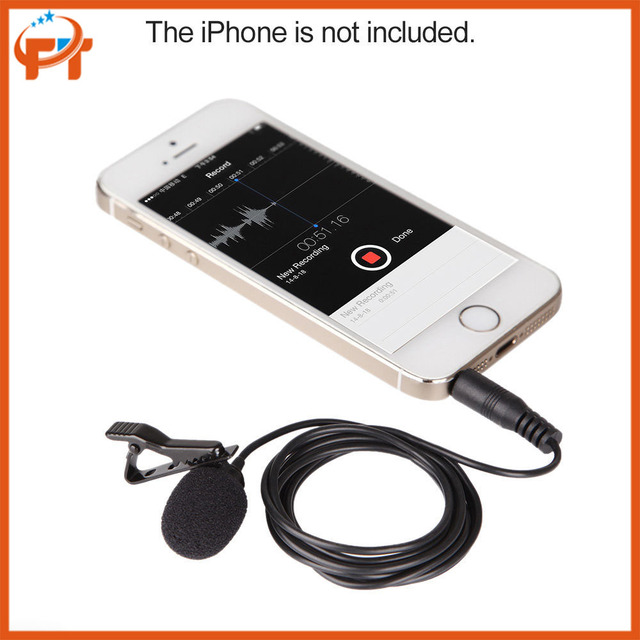 BOYA BY-LM10 BY  LM10 Phone Audio Video Recording Lavalier Condenser Microphone for iPhone 6 5 4S 4 Sumsang GALAXY 4 LG G3 HTC