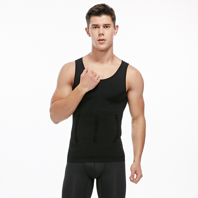 Mens Slimming Vest waist Shaper Trainers Tummy Trimmer Controling Shapewear Big Belly Control Corset Tank Tops 2
