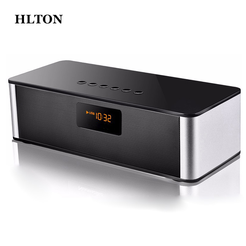 HLTON Mini Multimedia HIFI Wireless Bluetooth Speaker Handsfree Stereo FM AUX Wireless Super Bass With Mic Boombox Loudspeaker original lker bluetooth speaker wireless stereo mini portable mp3 player audio support handsfree aux in