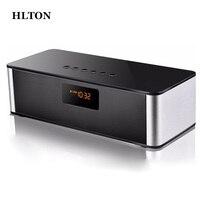 HLTON Mini Multimedya HIFI Kablosuz Bluetooth Hoparlör Handsfree Stereo FM AUX Kablosuz Mic Ile Boombox Süper Bas Hoparlör