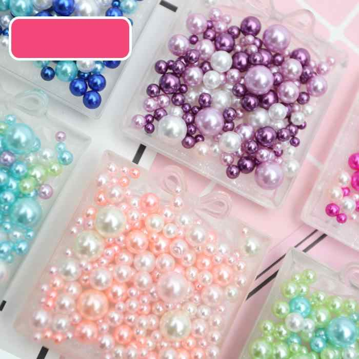 3g/bag Acrylic Imitation Pearls For Crafts Mix 2.5-5.5mm No Hole Art Pearl Beads Jewelry Making Pearls For Handicrafts Material