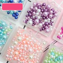 Perlas de imitación acrílicas para manualidades, mezcla de perlas de 2,5 5,5mm sin agujero, fabricación de joyas, Material artesanal, 8g por bolsa
