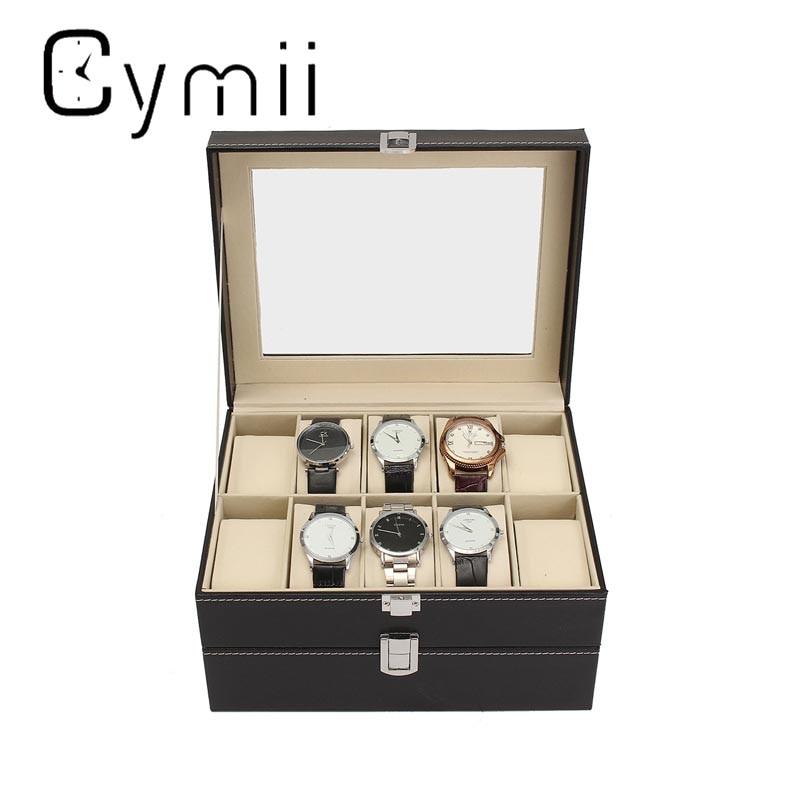 PU Leather 20 Grids Watch Display Case Box Jewelry Holder Storage Organizer Elegant Watch Box Gifts Watches Decoration Case jinbei em 35x140 grids soft box