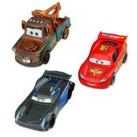 Disney Pixar Cars 3 Lightning McQueen Jackson Storm Mater Diecast Metal Birthday Christmas New Toys Gift