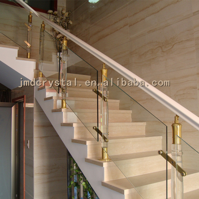 Crystal Glass Stairs Railings Staircase Designs Indoor Outdoor | Stairs Railing Design In Glass | Indoor Home Depot | Fancy | Painting | Modern | Interior Residential Metal