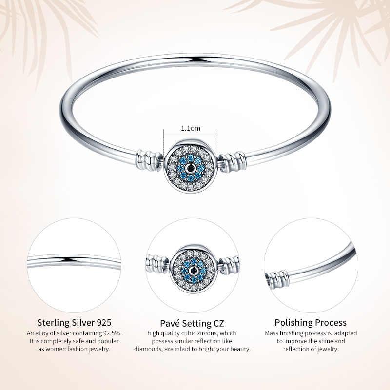 WOSTU 100% 925 סטרלינג כסף העין של סמסרה צמיד לנשים Fit DIY קסם צמידי תכשיטים CQB012
