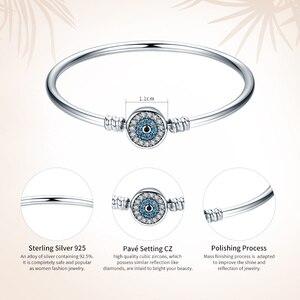 Image 2 - WOSTU 100% 925 Sterling Zilver De Oog Van Samsara Bangle Voor Vrouwen Fit DIY Charm Armbanden Mode sieraden CQB012