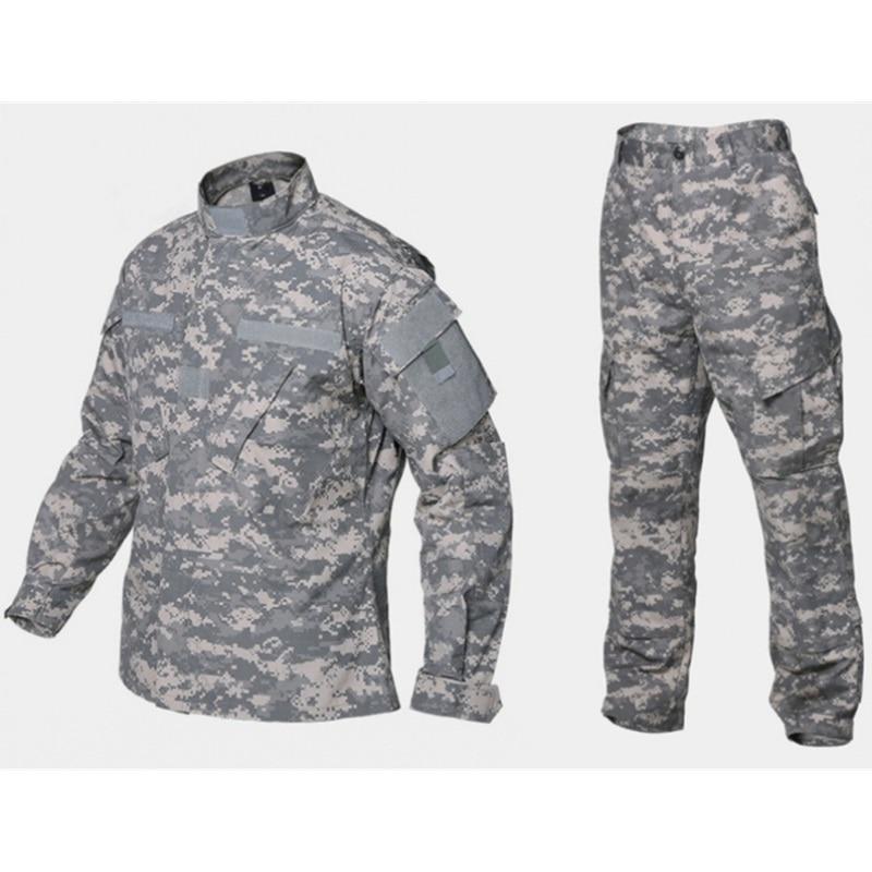 Armée militaire ACU Camouflage uniforme tactique Combat BDU costume champ de bataille vêtements hommes Airsoft Paintball chasse vêtements