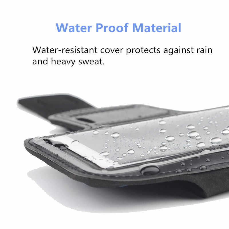 Không thấm nước Armband Chạy TẬP thể DỤC thể thao điện thoại bag trường hợp Đối Với Xiao mi mi 2A/2 S/M2/mi một 1 S/Lưu Ý 2 3 4 Cánh Tay Ban Nhạc Di Động điện thoại di động Pouch
