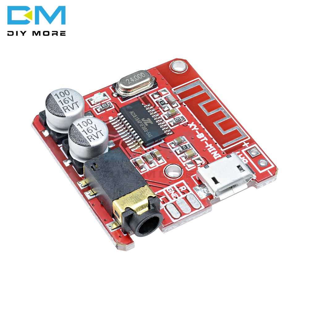 Mini MP3 Bluetooth 4.1 Lossless Decoder Stereo Output Board Car Speaker Amplifier Module Circuit Board Module 3.7V 5V Micro Usb