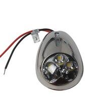 12 V 316 Bề Mặt Thép không gỉ Gắn ĐÈN LED Lắp Ghép Ánh Sáng Mềm Thuyền Du Thuyền Hoa Tiêu Đèn Từ ITC Mềm Phụ Kiện