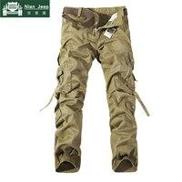 2018 Brand Mens Cargo Pants Army Military Cotton Pants pockets Baggy Mens Pants Sweatpants track pants pantalon homme Size 40 42 3