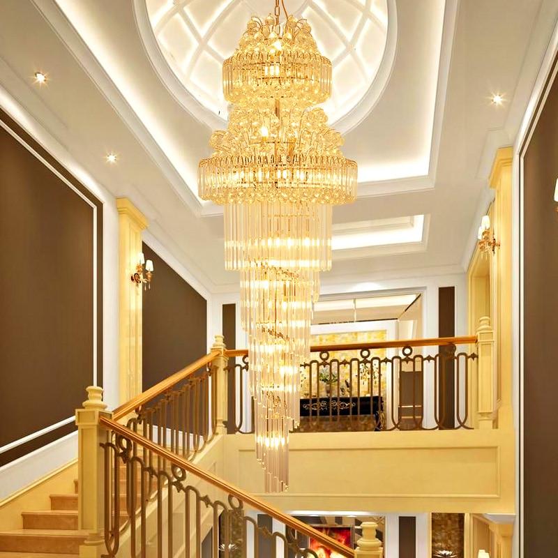 Lighting Basement Washroom Stairs: Modern Crystal Chandeliers Lighting Fixture LED Lights