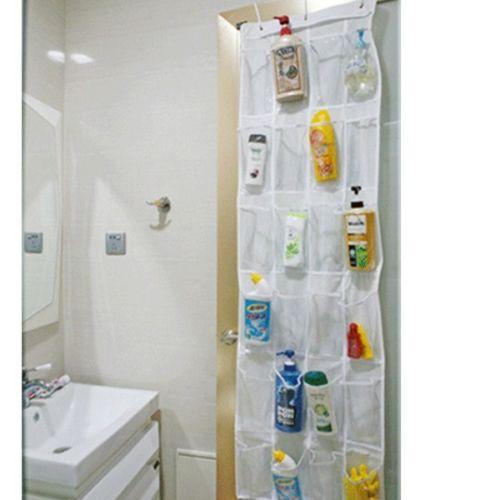 24 pockets shoe rack hanger storage clear over door hanging bag tidy organizer in storage bags. Black Bedroom Furniture Sets. Home Design Ideas
