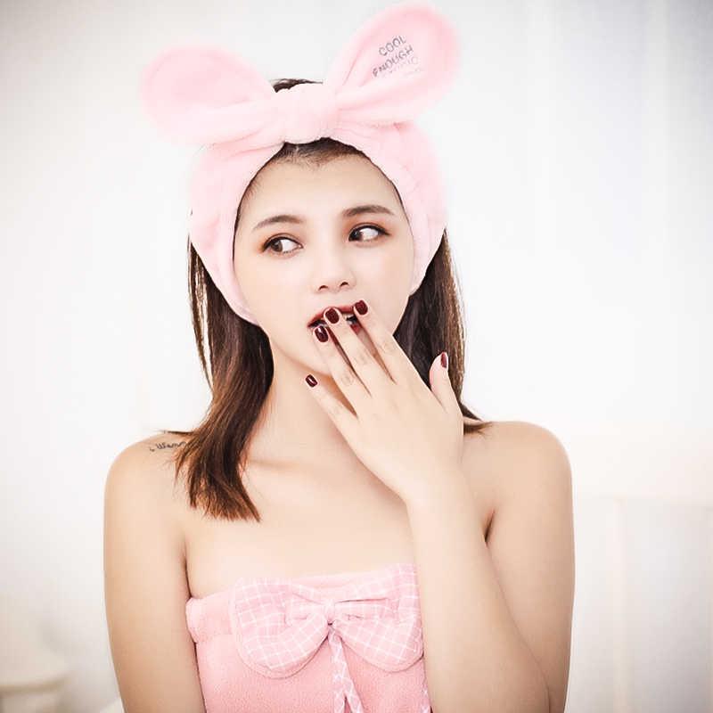 Balo Thỏ tai rửa tóc mềm mại co giãn đầu nữ khăn tóc tắm Spa trang điểm trang Mũ Đợi Đầu đa năng bộ trang sức