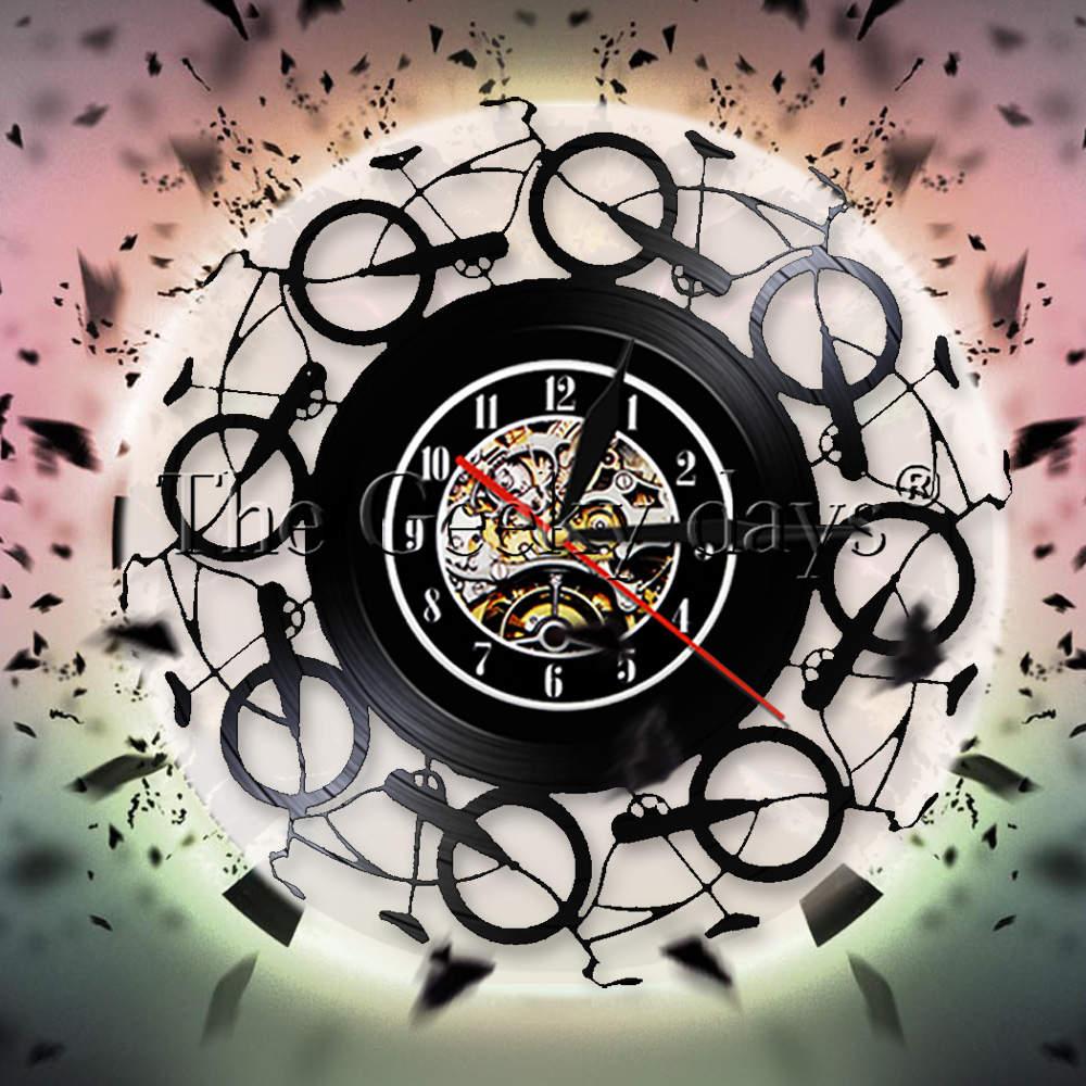 Bicycle Shop Vinyl Wall Clock Bike Shop Unique Decor