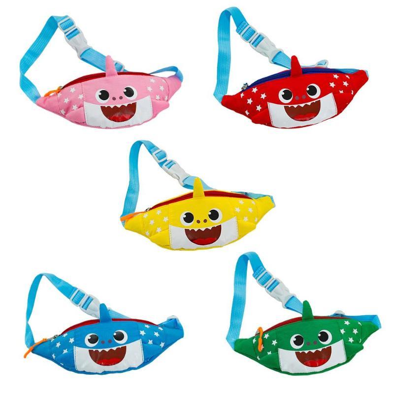 51d01c158b1a Kids Cute Waist Bag Shark Smile Belt Bag Mini Zipper Fanny Pack ...