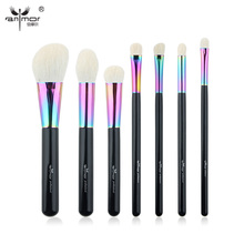 Anmor High Quality Makeup Brushes Set Goat Hair Professional Powder Foundation Blush Make Up Brushes maquillaje