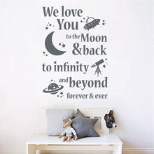 We love you - moon - infinity - beyond - forever Wall Decals Art Decor Removable living Nursery Kids Room Wall Sticker J114