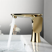 Bathroom Basin Faucet Brass Hot and Cold Sink Mixer Tap Gold/Chrome Single Handle Crane Water Tap Luxury Basin Faucet Torneira