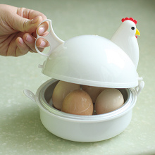New Egg Cooker Chicken Shaped Boiler Steamer Microwave Cooking&Kitchen Accessories  Beep Eggs Cooking Gadgets