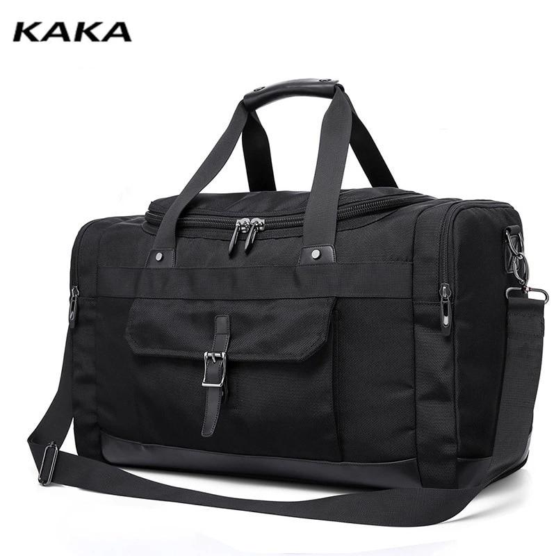 KAKA Large Capacity Travel Bags Men's Fashion Trend Personality Handbag Travel Short Trip Single Shoulder Messenger Bag For Male