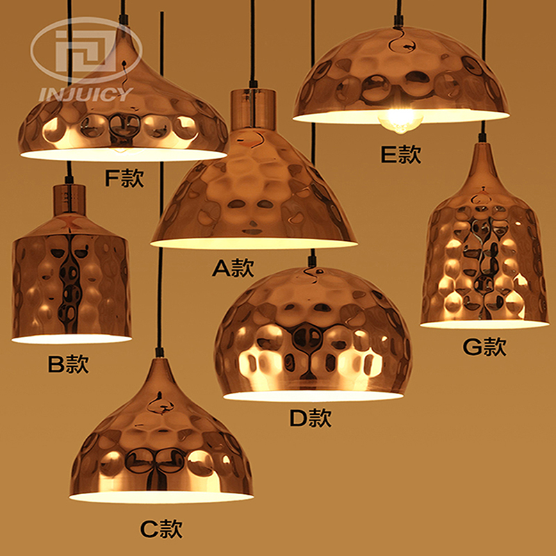 Nordic Post Modern LOFT Cafe Bar Restaurant LED Pendant Lamp Vintage Industrial Rose Gold Plated Iron Home Lighting Hanging Lamp loft iron pendant light indutrial vintage loft bar cafe restaurant nordic country style birdcage pendant lights hanging lamp