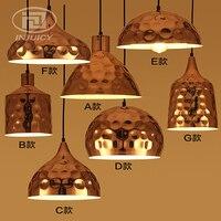 Nordic Post Modern LOFT Cafe Bar Restaurant LED Pendant Lamp Vintage Industrial Rose Gold Plated Iron Home Lighting Hanging Lamp