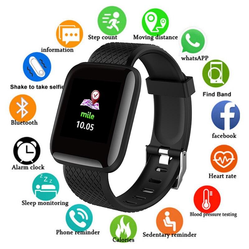 D13 Esporte Relógio Inteligente Homens de Pressão Arterial Ip67 Smartwatch À Prova D' Água Heart Rate Monitor de Fitness Rastreador Relógio Para IOS Android