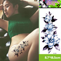 Hot Sexy Colorful Free shopping Floral Fake Tattoo Sticker Sex Products Waterproof Temporary Tattoo Sticker Flash tattoos