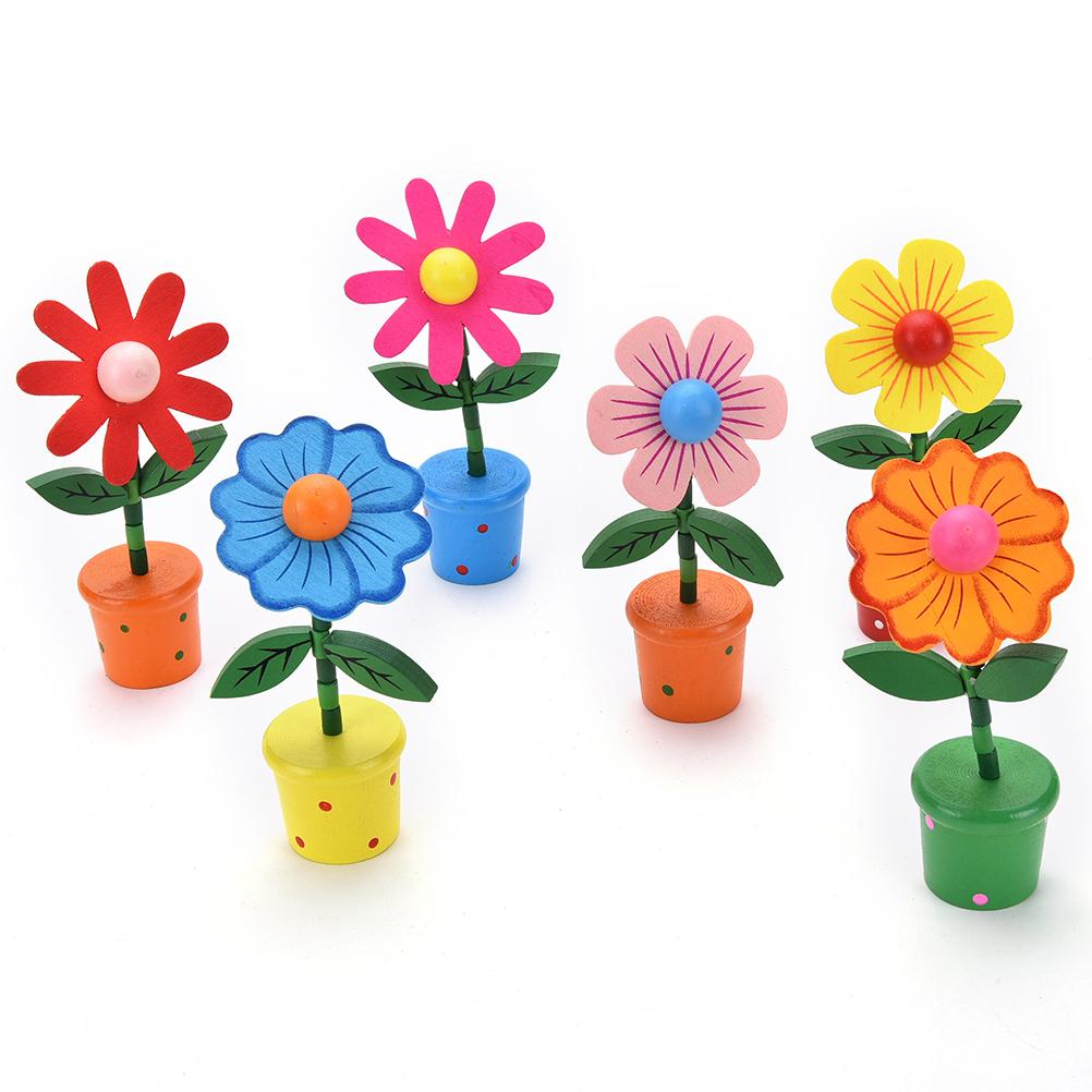 Multicolored wooden educational toys wooden rocking springs flowers multicolored wooden educational toys wooden rocking springs flowers colorful smile face flowers thumb toys car home table decor in blocks from toys mightylinksfo